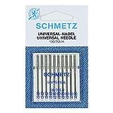 Nähmaschinennadeln Schmetz, Sortiert 70/10 - 90/14, aus Deutschland, 10er-Pack - Nähnadeln Universal / Regulär