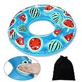 Onlydroid Schwimmring Schwimmhilfe für Kinder 3-6 Jahre Druck zum Aufblasen Wassermelone Schwimmreifen 60CM