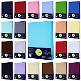 Jersey Spannbettlaken Spannbetttuch Baumwolle Bettlaken, 90x200-100x200 cm, Aubergine