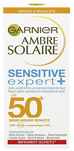 Garnier Ambre Solaire Sonnencreme Gesicht Sensitive Expert+, 1er Pack (1 X 50 ml)