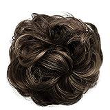 PRETTYSHOP Haarteil Haargummi Hochsteckfrisuren unordentlicher Dutt gewellt VOLUMINÖS braun mix #32AH12 G34A