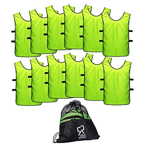 Sport Trikot Leibchen (12er Pack) - Fußball Trainingsleibchen, Trainingstrikots