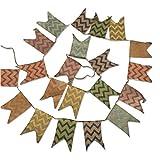 Schöne Leinen Wimpel Hessischen Girlande Vintage Rustikal Süße Bunting Wimpelkette Farbenfroh Wimpeln für Draußen Hochzeit