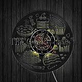 XYVXJ Küchenwanduhr Süßigkeiten Wanduhr Dessert Stempeluhr Modernes Design Vinyl 3D Wanduhren Uhr In der Küchenwand