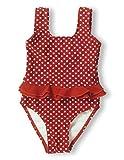 Playshoes Mädchen Badeanzug 461039 Badeanzug Punkte UV-Schutz nach Standard 801 und Oeko-Tex Standard 100, Gr. 110/116, Rot (8 rot)
