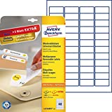 Avery Zweckform L4736REV-25 Etiketten (A4, 1200 Plus 240 Universal-Etiketten extra, ablösbar, 45,7 x 21,2 mm) 30 Blatt, weiß