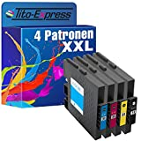 Tito-Express PlatinumSerie 4 Gel-Patronen XXL mit Chip kompatibel mit Ricoh GC-31 Ricoh Aficio GX e 2600 GX e 3300 GX e 3300 Series GX e 3300 N GX e 3350 N