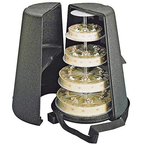 EPP Thermobox für Torten/Etagentorten - ØxH unten 620 x 750 mm, innen Ø oben/Mitte/unten 240/420/480, Höhe 650 mm, für 3-, 4- und 5-etagige Tortenständer