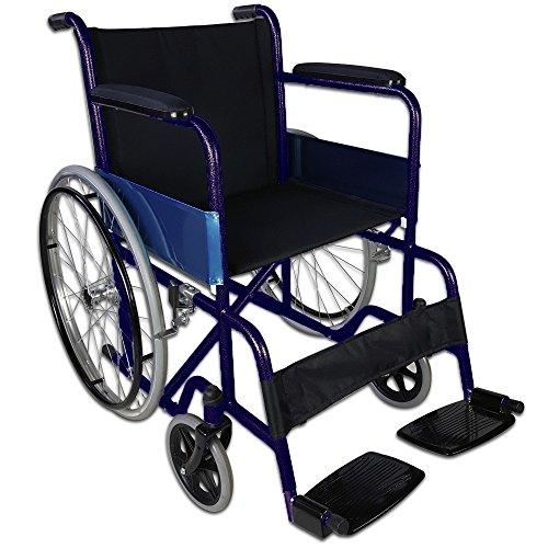 Rollstuhl faltbar und autopropulsable   Rohre in blau     Modell Alcázar Sitz   Breite: 50cm