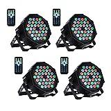 LED Bühnenlicht Par Scheinwerfer DMX512 RGBW Bühnenbeleuchtung mit Drahtlose Fernbedienung Beleuchtung Lichteffekt für Stage Lights Disco DJ Party Show Bar UKing (36 LED)