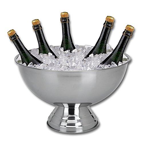 Champagnerkühler Edelstahl - Sektschale - Sektkühler - Champagnerschale - Edelstahlschale