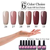Saint-Acior 6 Farben Gel lacken uv Nagellack Farben Nail Polish Set + Top Base Coat