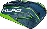 Head Tour Team 12R Monsterercombi Tennisschläger Tasche, unisex, Tour Team 12R Monsterercombi, marineblau/grün