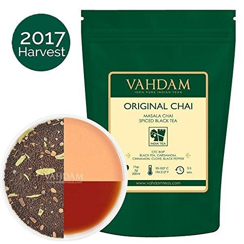 Indiens Original Masala Chai Tee (225) Tassen), Köstliche Mischung aus Schwarzem Assam CTC Tee mit frischen indischen Gewürzen, Direkt aus Indien, 454g