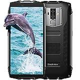 Blackview BV6800Pro Robust Smartphone (2019), IP69K 6580mAh Kabelloses Laden, Outdoor Smartphone Android 8.0 4GB RAM + 64GB, 8MP + 16MP Kameras 18:9 FHD+ 5.7'' Display,Schwarz