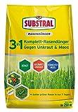 Substral 3 in 1 Komplett Rasendünger mit Unkrautvernichter und Moosvernichter, 9 kg für 250 m²