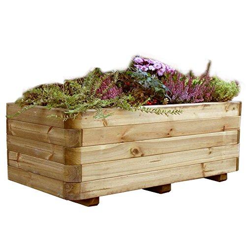 Gartenpirat Pflanzkasten Holz massiv 120x60x40 cm Blumenkasten außen