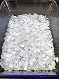 5kg Paraffin Premium Kerzenwachs rein weiß | vollraffiniertres Qualitätswachs | Granulat / Pastillen | 54/56 | Paraffin-Wachs | für Kerzen, Basteln, Feuer ... | deutsche Marke molinoRC