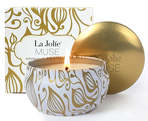 Duftkerze Vanille Kokosnuss in Dose 100%Sojawachs Aromatherapie Kerze 45Std 185g Geschenk
