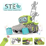 REMOKING RC Roboter Baufahrzeug Spielzeug, Ferngesteuertes Auto Spielzeug Geschenke für Kinder, 3 in 1 Montage Baufahrzeug Spielzeug, Elektrisches Lernspielzeug Auto mit Lichtern & Musik & Tanzen
