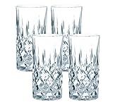 Spiegelau & Nachtmann, 4-teiliges Longdrink-Set, Kristallglas, 375 ml, Noblesse, 0089208-0