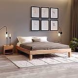 Krokwood Jana Massivholzbett in Buche FSC 100% Massiv, Natur geölt Buchebett, günstig Futonbett, massivholz Bett vom Hersteller (100 x 200 cm)
