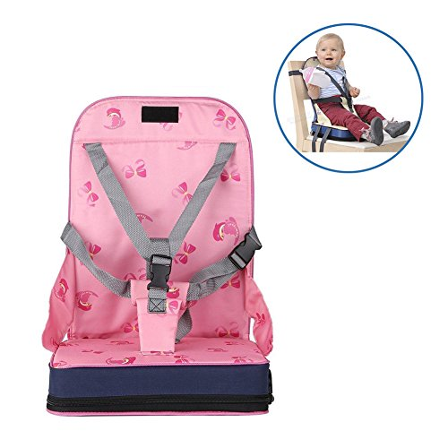 Boostersitz StillCool Sitzerhöhung für Reisen Stuhlsitz Kinderhochstuhl Kindersitz (Rosa)