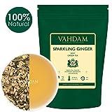 VAHDAM, Sparkling Ingwer Minze Grüner Tee Loose Leaf (100 Tassen) | RICH ANTI-OXIDANTS | Mischung aus Ingwer Tee & Minze Tee | Reine grüne Teeblätter | Als heißen Tee oder Eistee brauen 200gm