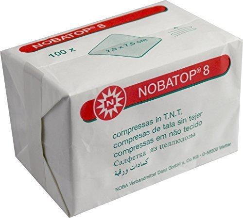 Vliesstoffkompresse Nobatop 8 unsteril 7,5 x 7,5cm, 100 Stück