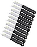 10 er Messer Set Solingen Obstmesser/Gemüsemesser Küchenmesser Schälmesser aus Bandstahl - Germany rostfrei 16 cm Gesamtlänge - 6 cm Klinge (Schwarz)