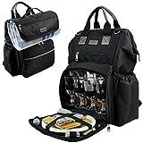 INNO STAGE Big Open Picknick Rucksack für 4mit Kühlfach Tasche schwarz