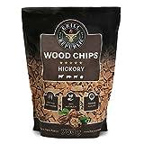 Premium Hickory Räucherchips für optimales Raucharoma beim Grillen | 100% Natürliches Smoker-Holz geeignet für Kugel-, Stand- und Gas-Grill | Extra große 750 g Packung