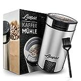 Liebfeld [200W] Edelstahl Kaffemühle mit kompaktem Design - Elektrische Kaffeemühle für genussvollen Geschmack - Coffee Bean Grinder, Nussmühle