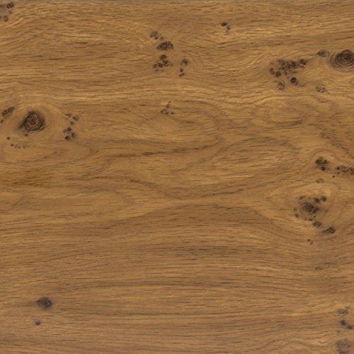 Klebefolie PERFECT FIX EICHEASTIG Dekofolie Möbelfolie Tapeten selbstklebende Folie, PVC, ohne Phthalate, keine Luftblasen, Natur-Holzoptik braun, 45cm x 2m, 150µm (Stärke: 0,15 mm), Venilia 53334