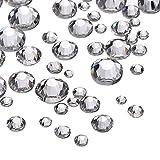 1000 Stück Klare Flache Rückseite Strasssteine Runde Kristall Edelsteine 1,5 mm - 5 mm, 5 Größen