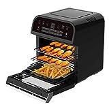 Cusinier Deluxe 12 Liter Air-Fryer Heissluft-Friteuse 1600W Fritöse Frittöse Heißluftfritteuse