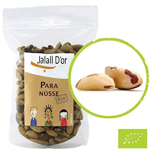 Paranüsse BIO natur Jalall D'or | 1 kg | aus nachhaltigen § sozialen Projekten in Bolivien | frisch abgefüllt | Paranuss bio | 1000g