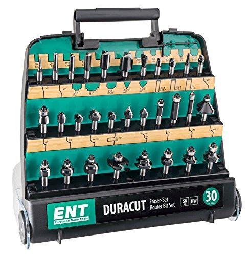 ENT 30-tlg. HM DURACUT Fräser Set in hochweriger Kunststoffkassette - Schaft 8 mm