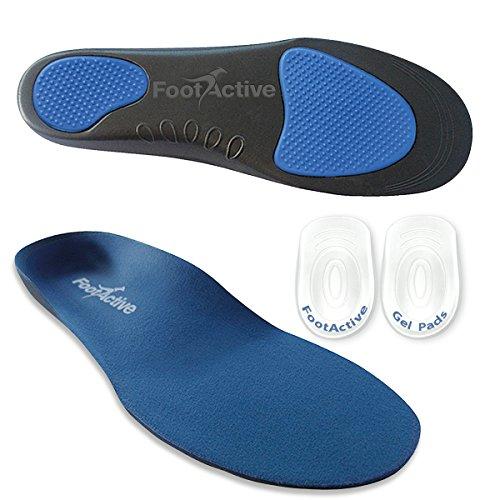 FootActive Comfort - Original Marken Einlegesohlen - Herrlicher Laufkomfort für Füße, Beine und Rücken, Speziell Bei Fersensporn (44-46 L)