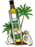 WoldoHealth I 500ml MCT Öl oil aus Kokosöl I Bulletproof Coffee I geschmacksneutral I Caprylsäure (C-8) und Caprinsäure (C-10) I Vegan
