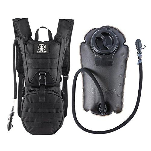 Trinkrucksack mit 3 L Trinkblase, Barbarians Taktischer Hydrapack mit Trinkschlauchperfekt für Wandern Radfahren Joggen, Spazieren Klettern und Bergsteigen