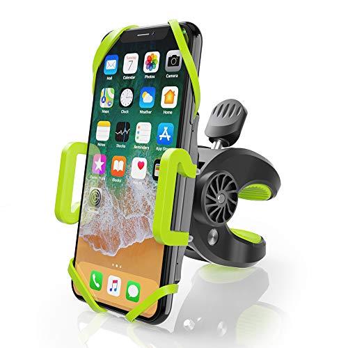 ZeaLife Fahrrad Handyhalterung, Universal Motorrad Handy Halterung 360° Drehbarer Fahrrad Handyhalter Handyhalterung für iPhone X/8/7/6, Samsung Galaxy S8 und 4-6.5 Zoll Smartphone, Grün/Schwarz