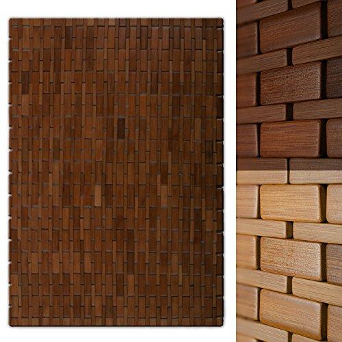 casa pura Bambusmatte Mia | Badematte & Saunamatte aus Bambus | 60x90cm | zwei Farben (Honigfarben)