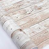 Holz Folie Selbstklebend 45cmX300cm Upgrade Grain Holz Texturierter Vinyl Film Selbstklebende Aufkleber Regal Liner Klebrige Rückseite Kunststoffrolle Tapete für Tür Küche Badezimmer