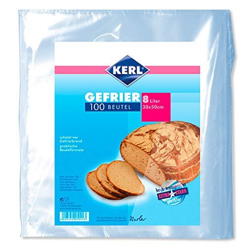 KERL Tiefgefrier-Beutel 8 l,  30 x 50 cm, extra stark, 100 Stück
