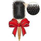 Paddelbürste mit Reinen Wildschweinborsten - perfekt fürs Entwirren, Glätten und Föhnen alle Haartypen und -längen- Für schönes, seidig glänzendes, gesundes Haar