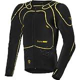 Safe Max Motorrad Protektorenhemd Unterziehjacke mit Protektoren 1.0, Level 2, extrem funktional, Schulter-, Ellbogen- und Rückenprotektor, luftig, atmungsaktiv, Schwarz, XXL / 2XL