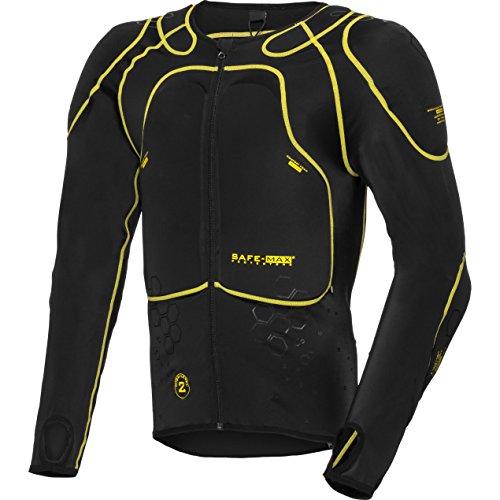 Safe Max Motorrad-Protektoren-Hemd Unterziehjacke mit Protektoren 1.0, Level 2 schwarz L