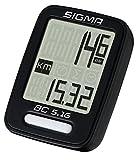 Sigma Sport Fahrrad Computer BC 5.16, 5 Funktionen, Geschwindigkeit, Kabelgebundener Fahrradtacho, Schwarz