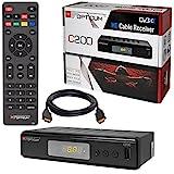 Kabel Receiver Kabelreceiver – DVB-C HB-Digital Set: Opticum HD C200 Receiver für digitales Kabelfernsehen (HDMI, SCART, USB 2.0, Mediaplayer) + HDMI Kabel